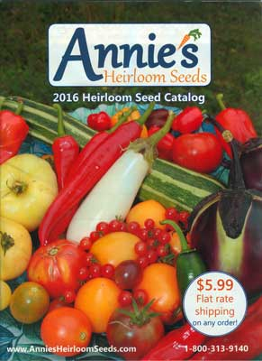 Cover - Annie's Heirloom Seeds catalog