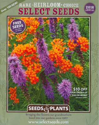 Select Seeds Antique Flowers 2016 catalog cover
