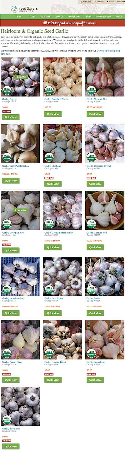 Garlic from SSE