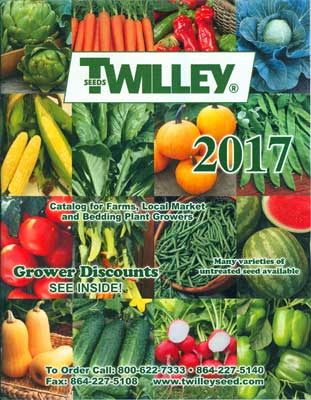 Twilley Seed 2017 Catalog Cover