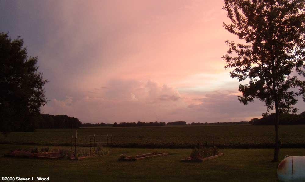 Evening sky over Senior Garden - July 22, 2020