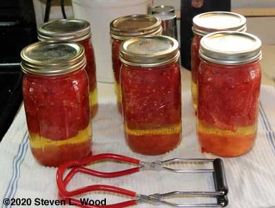 Six quarts canned whole tomatoes