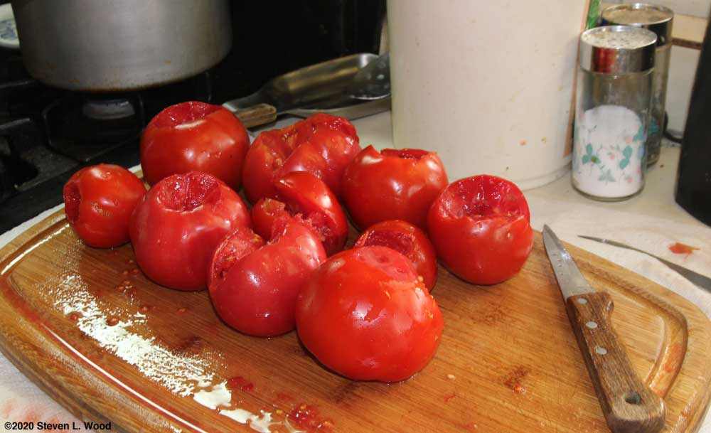 Ripe tomatoes for kale soup