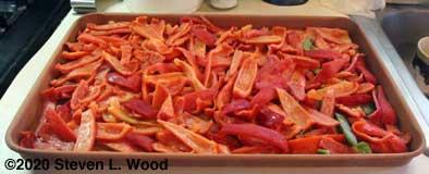 Pepper strips frozen