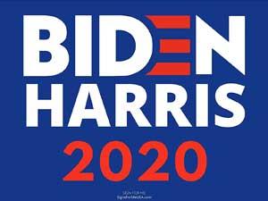 Biden/Harris sign