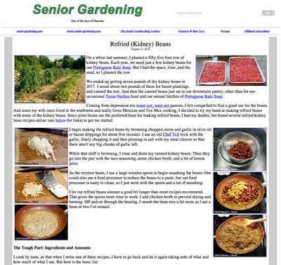 Recipe for Refried Kidney Beans