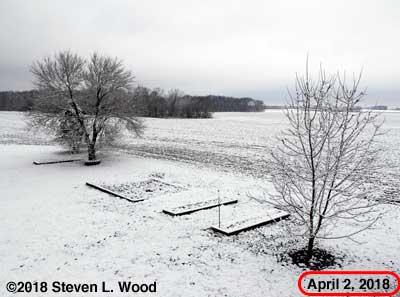 Snow on April 2, 2018