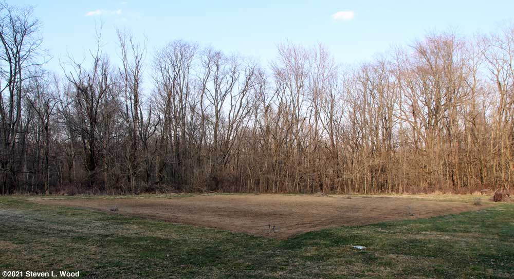 East Garden plot tilled - March 9, 2021