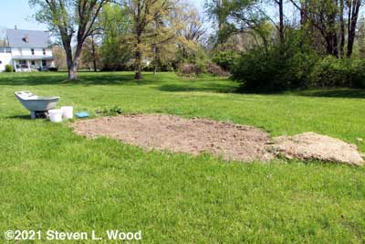 Area tilled and raked - ready for planting