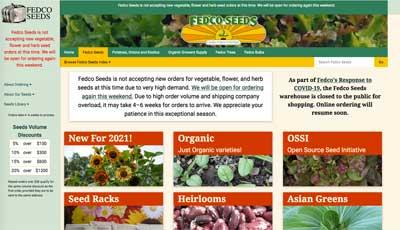 Fedco Seed site