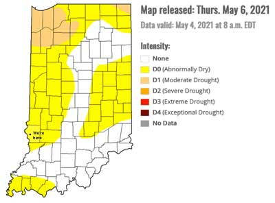 Indiana pretty dry in May