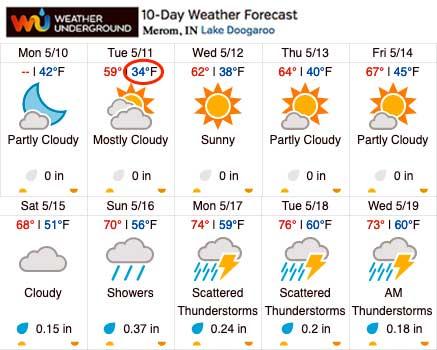 Weather Underground 10-day Forecast - May 10, 2021