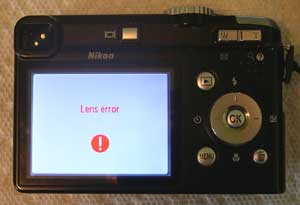 Lens error message
