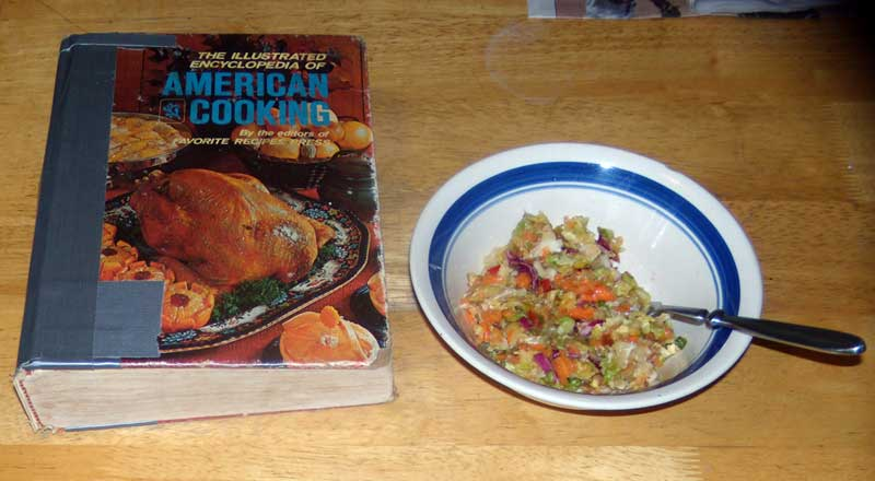 Cookbook and slaw
