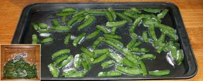 Sugar snap peas frozen