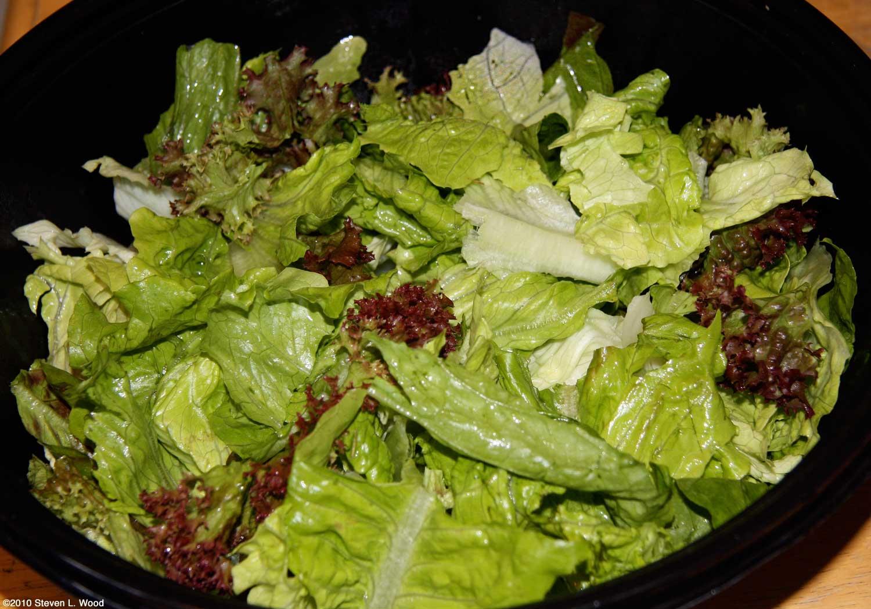 Colorful lettuce salad