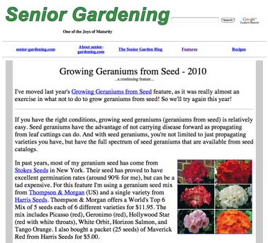 Geranium feature story