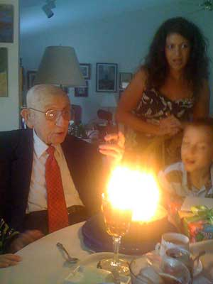 Clarence E. Wood's 98th birthday cake