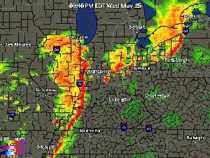 Wednesday night radar