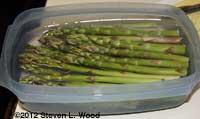 Cut asparagus