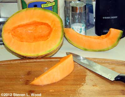 Cut Athena melon