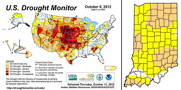 Drought Report 10/9/2012