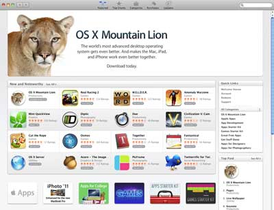 App Store - Mountain Lion