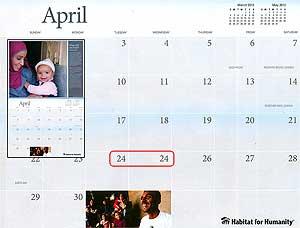 Habitat Calendar