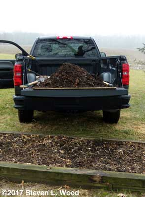 Compost in truck