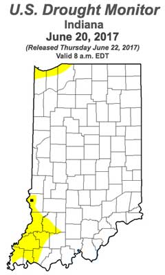 Drought Monitor - Indiana - June 20, 2017