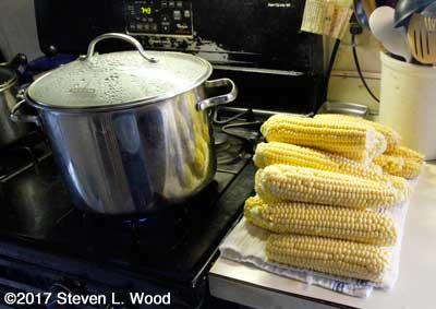 Blanching sweet corn