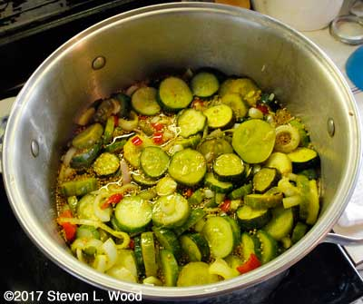 Heating pickle mix