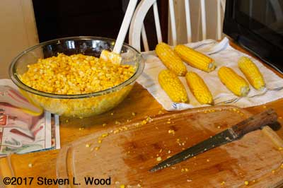 Processing sweet corn