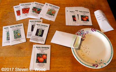 Filling seed packets