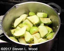 Warming, softening apples