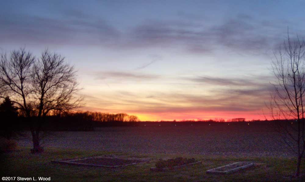 Evening sky - December 10, 2017