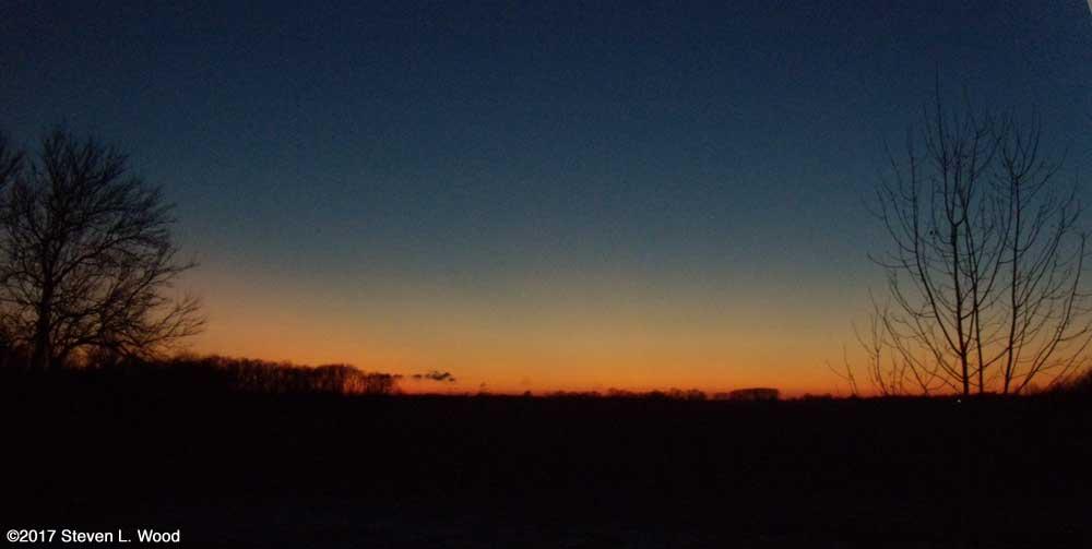 Evening sky, December 31, 2017