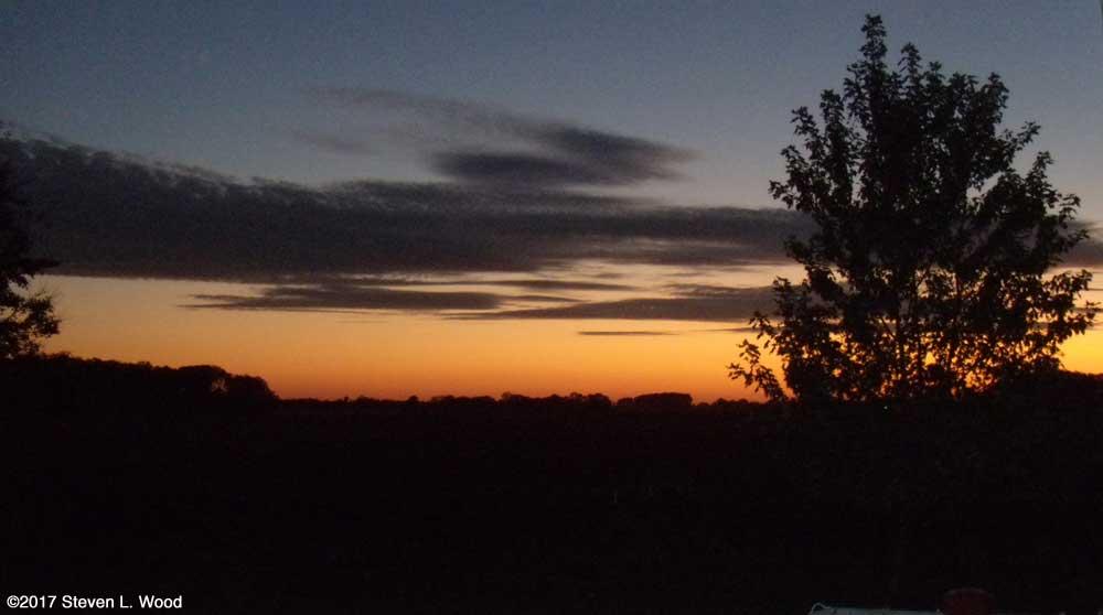 Evening sky, October 13, 2017