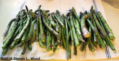 Two pounds of asparagus