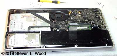 Closeup of open Macbook Pro