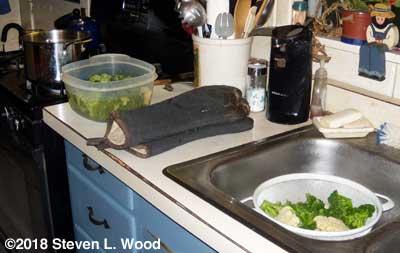 Blanching broccoli and cauliflower