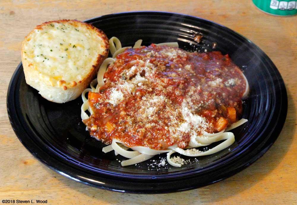 Spaghetti dinner (actually fettuccine)
