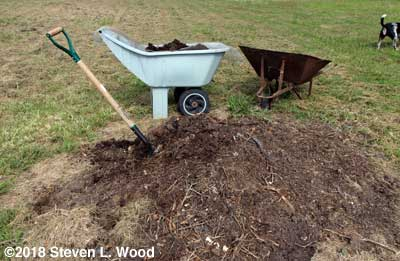 Screening compost