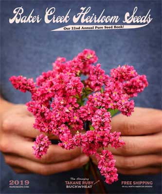 Baker Creek Heirloom Seeds 2019 Catalog Cover