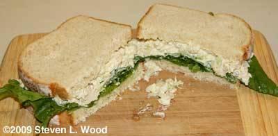 Chicken salad sandwich from when I wrote up the recipe