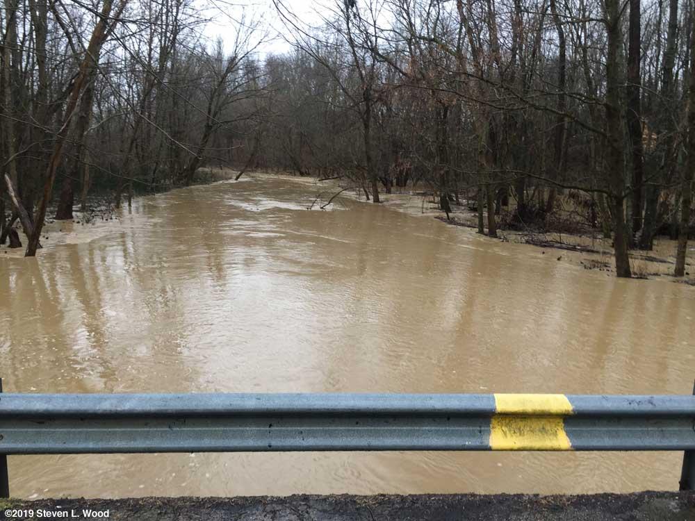 Same creek on February 7, 2019