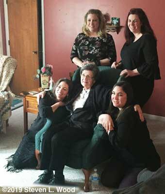 Our girls with Grandma Wyatt