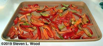 Pepper strips for freezing