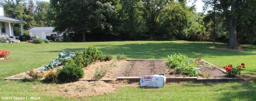 Main raised garden bed on September 11, 2019