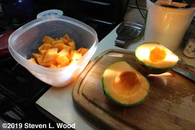 Cutting melons